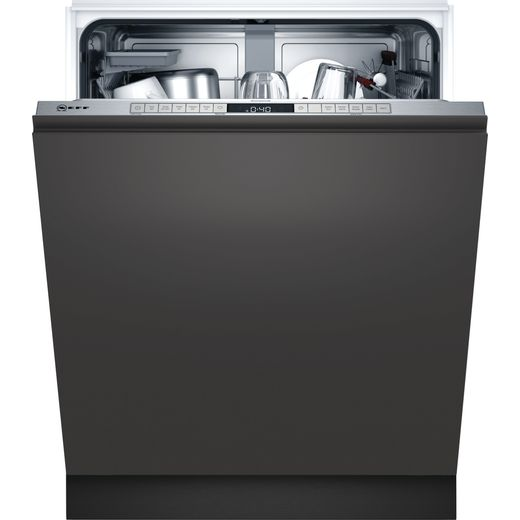 NEFF N50 S355HAX27G Fully Integrated Standard Dishwasher - Stainless Steel Control Panel - D Rated