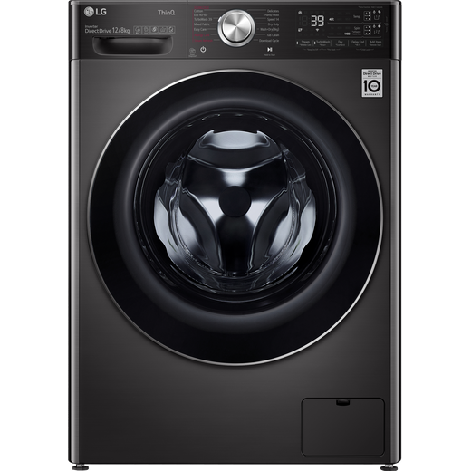 LG V11 FWV1128BTSA Wifi Connected 12Kg / 8Kg Washer Dryer with 1400 rpm - Black Steel - A Rated