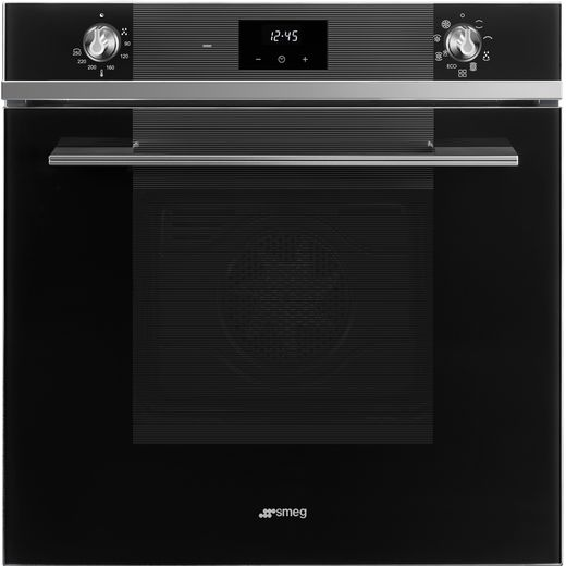 Smeg Linea SF6100TVN1 Built In Electric Single Oven - Black - A Rated