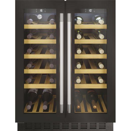 Hoover H-WINE 700 HWCB60DUK Built Under Wine Cooler - Black Glass / Steel - G Rated