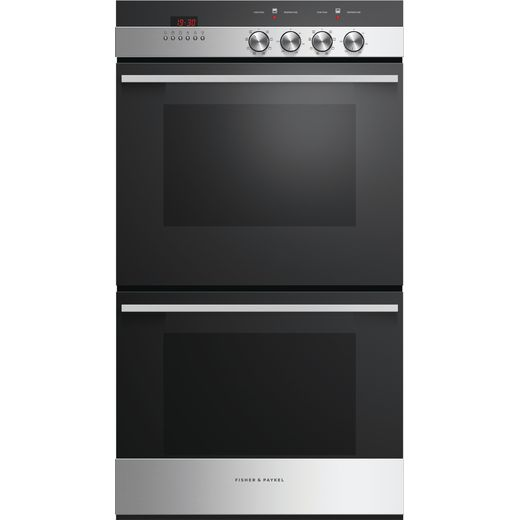 Fisher & Paykel Designer OB60DDEX4 Built In Electric Double Oven - Black / Stainless Steel - A/A Rated