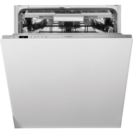 Whirlpool WIO3O41PLESUK Fully Integrated Standard Dishwasher - Stainless Steel Effect Control Panel with Fixed Door Fixing Kit - C Rated