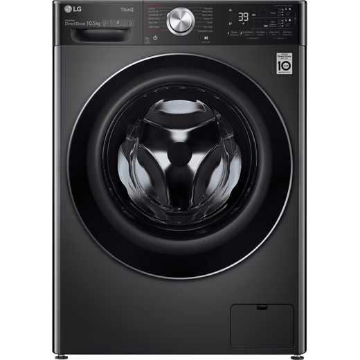 LG V11 F6V1110BTSA Wifi Connected 10.5Kg Washing Machine with 1600 rpm - Black Steel - A Rated