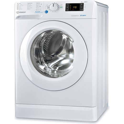 Indesit BWE101683XWUKN 10Kg Washing Machine with 1600 rpm - White - D Rated
