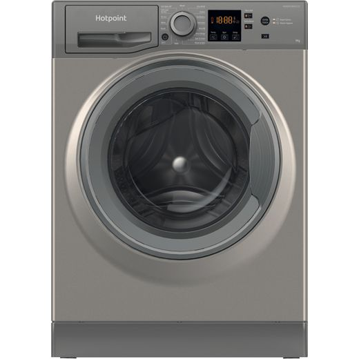 Hotpoint NSWM944CGGUKN 8Kg Washing Machine with 1400 rpm - Graphite - C Rated