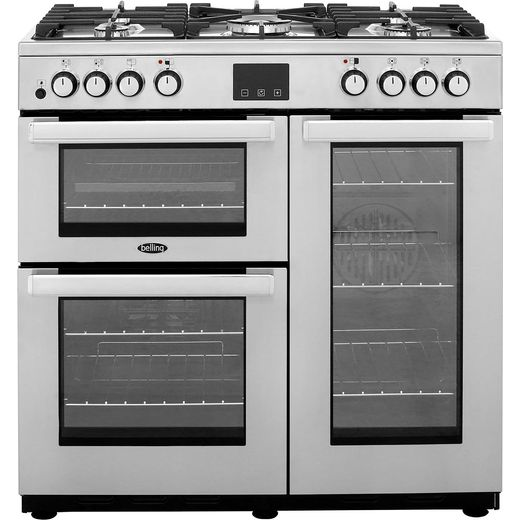 Belling Cookcentre90DFTProf 90cm Dual Fuel Range Cooker - Stainless Steel - A/A Rated