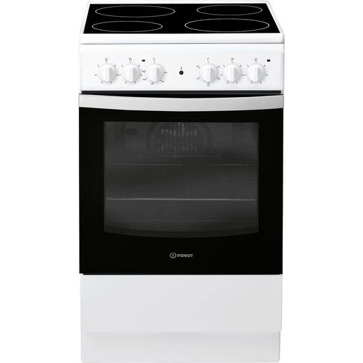 Indesit Cloe IS5V4KHW 50cm Electric Cooker with Ceramic Hob - White - A Rated