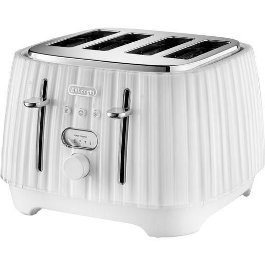 De'Longhi Ballerina CTD4003.W 4 Slice Toaster - White