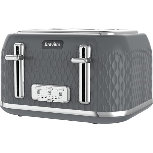 Breville Curve VTR013 4 Slice Toaster - Grey