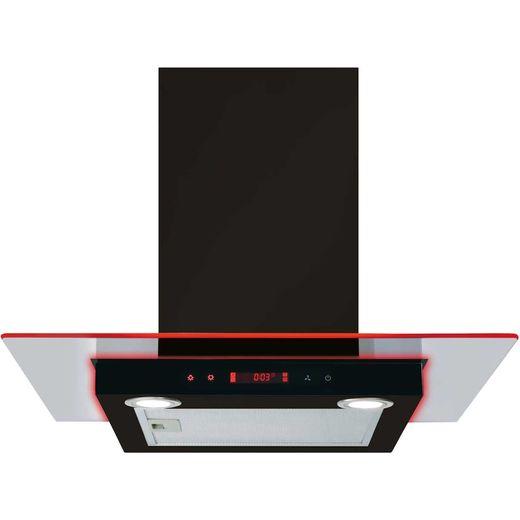 CDA EKN60BL 60 cm Chimney Cooker Hood - Black - D Rated
