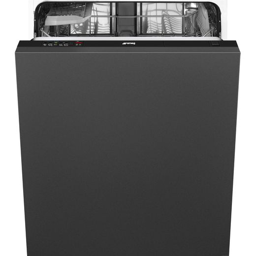 Smeg DIA13M2 Fully Integrated Standard Dishwasher - Black Control Panel with Fixed Door Fixing Kit - E Rated
