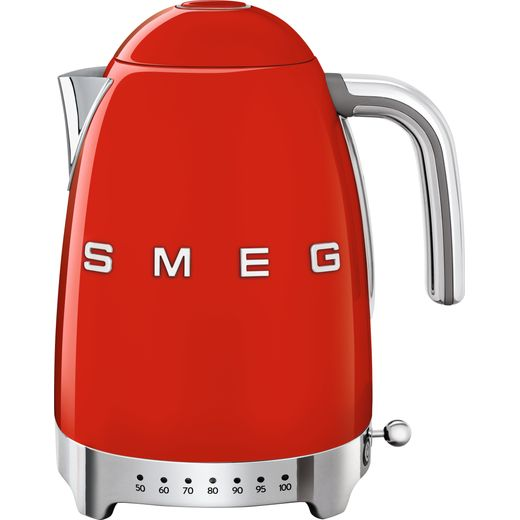 Smeg 50's Retro KLF04RDUK Kettle with Temperature Selector - Red