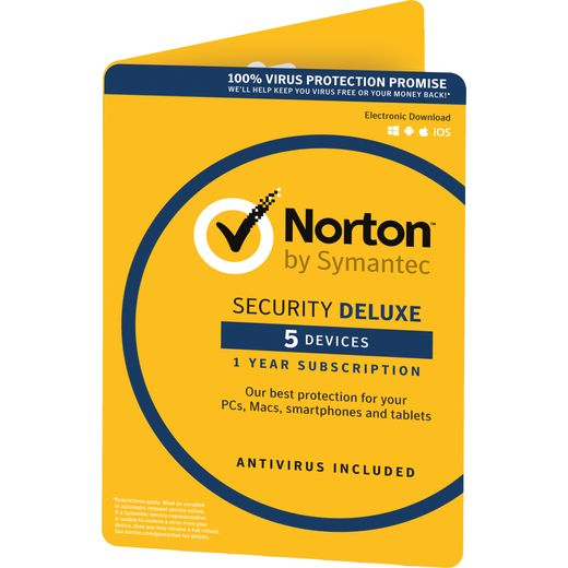 Norton Security Deluxe Digital Download for 5 Devices