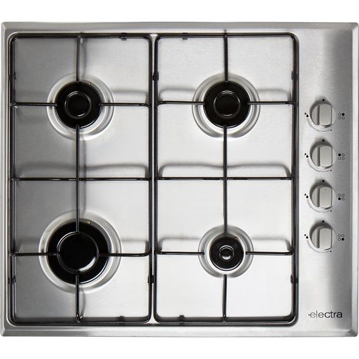 Electra BIGH4SS 58cm Gas Hob - Stainless Steel