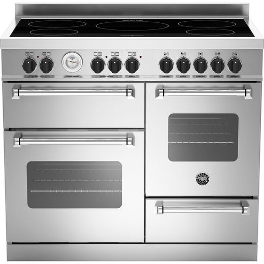 Bertazzoni Master Series MAS100-5I-MFE-T-XE 100cm Electric Range Cooker with Induction Hob - Stainless Steel - A/A Rated