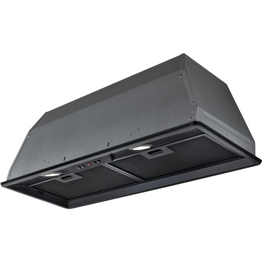Elica ELB-LUX-BLK-80 70 cm Canopy Cooker Hood - Black - C Rated