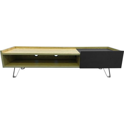 Alphason ADBE1500OAK 0 Shelf TV Stand - Oak