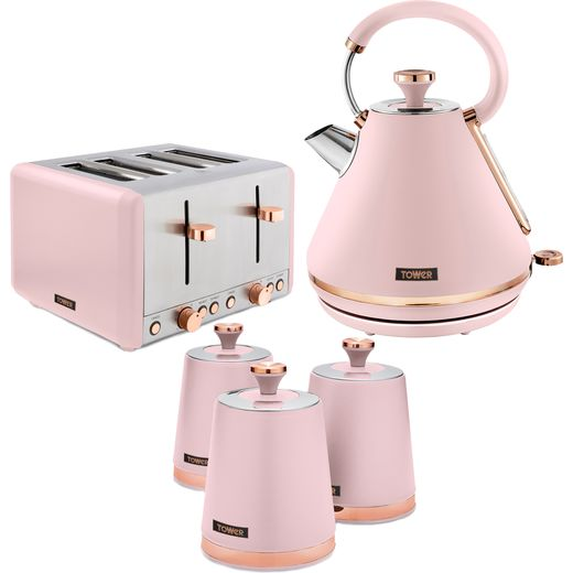 Tower Cavaletto AOBUNDLE032 Kettle And Toaster Set - Pink