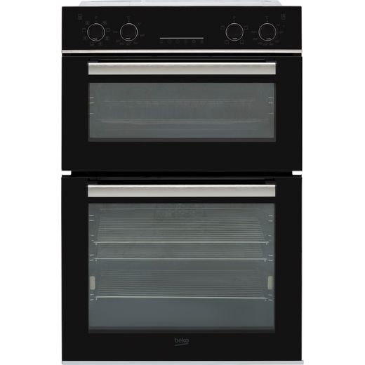 Beko RecycledNet™ BBDM243BOC Built In Electric Double Oven - Black / Glass
