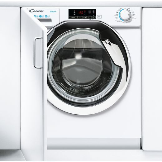 Candy CBW48D1XCE/1 Integrated 8Kg Washing Machine with 1400 rpm - White / Chrome - C Rated