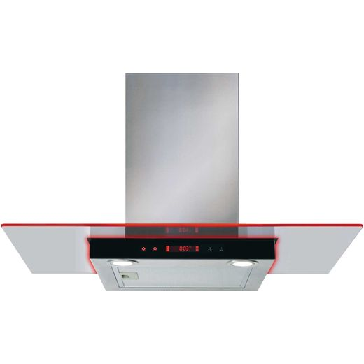 CDA EKN90SS 90 cm Chimney Cooker Hood - Stainless Steel - D Rated