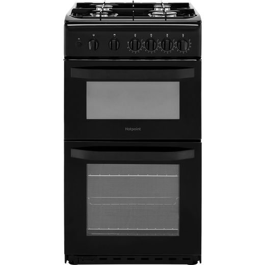 Hotpoint Cloe HD5G00KCB 50cm Gas Cooker with Full Width Gas Grill - Black - A Rated