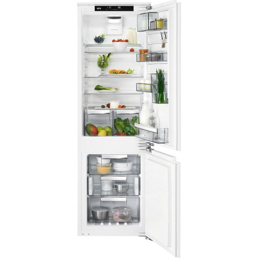 AEG SCE818E5TC Integrated 70/30 Frost Free Fridge Freezer with Fixed Door Fixing Kit - White - E Rated