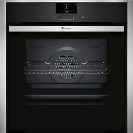 NEFF N90 Slide&Hide® B47CS34H0B Built In Electric Single Oven - Stainless Steel
