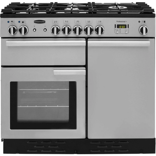 Rangemaster Professional Plus PROP100DFFSS/C 100cm Dual Fuel Range Cooker - Stainless Steel - A/A Rated