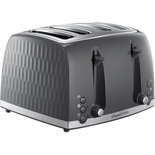 Russell Hobbs Honeycomb 26073 4 Slice Toaster - Grey