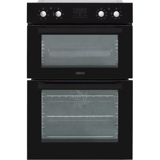 Zanussi ZOD35802BK Built In Electric Double Oven - Black - A/A Rated