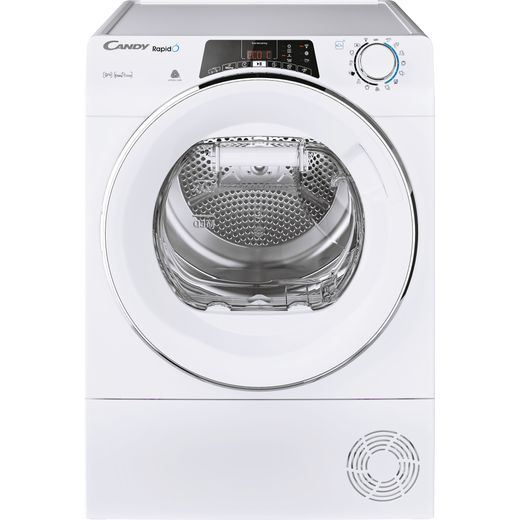 Candy Rapido ROEH9A2TCE Wifi Connected 9Kg Heat Pump Tumble Dryer - White - A++ Rated