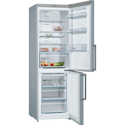 Bosch Serie 4 KGN36XLER 60/40 Frost Free Fridge Freezer - Stainless Steel Effect - E Rated