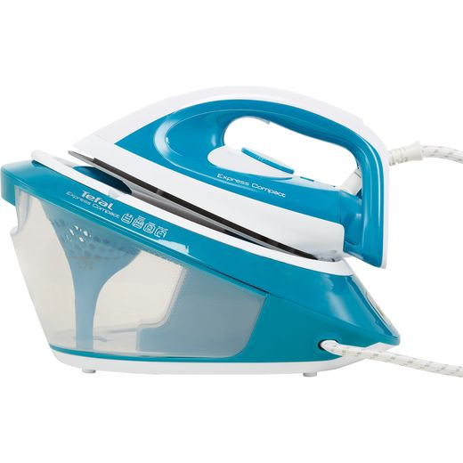 Tefal Express Compact SV7111 Pressurised Steam Generator Iron - Blue / White