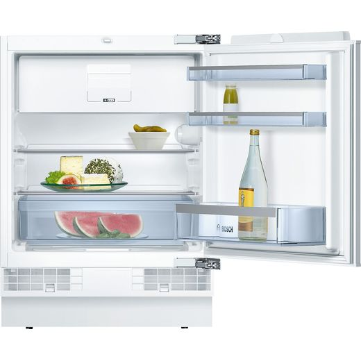Bosch Serie 6 KUL15AFF0G Integrated Under Counter Fridge with Ice Box - Fixed Door Fixing Kit - White - F Rated