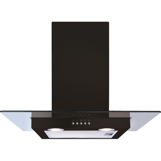 CDA ECN62BL 60 cm Chimney Cooker Hood - Black - D Rated