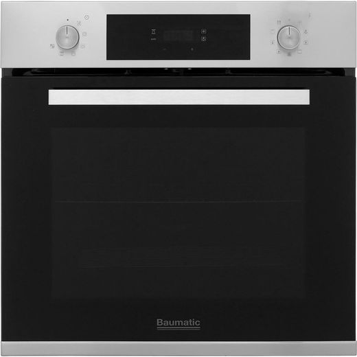 Baumatic BOPT609X Built In Electric Single Oven - Stainless Steel - A Rated
