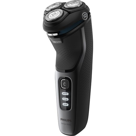 Philips Series 3000 Wet or Dry S3231/52 Mens Shaver Black / Grey