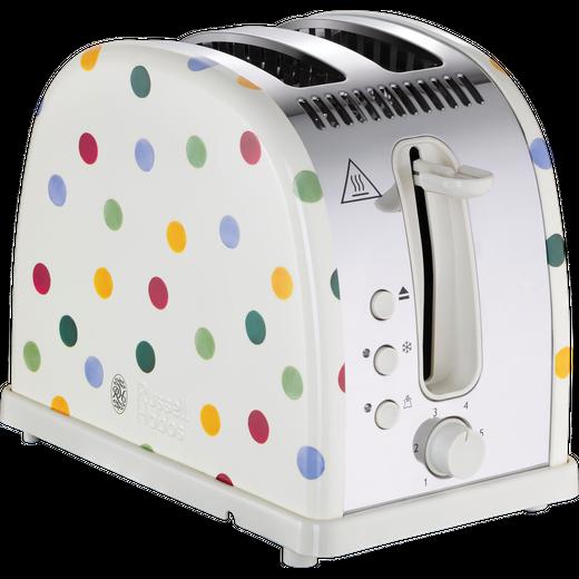 Russell Hobbs Emma Bridgewater Polka Dot Design 21295 2 Slice Toaster - Cream