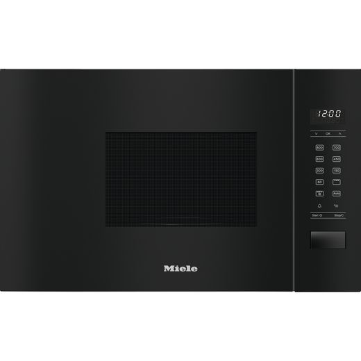 Miele M2234SC Built In Microwave With Grill - Obsidian Black