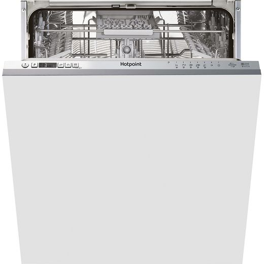 Hotpoint HIC3C33CWEUK Fully Integrated Standard Dishwasher - Silver Control Panel with Fixed Door Fixing Kit - D Rated
