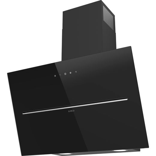 Elica SHY-BLK-60 60 cm Chimney Cooker Hood - Black Glass - A Rated
