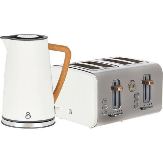Swan Nordic STP2091WHTN Kettle And Toaster Set - White