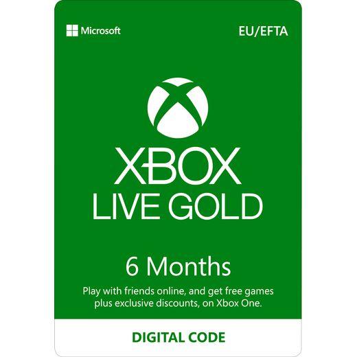 Xbox 6 Month Xbox Live Gold Membership – Digital Code