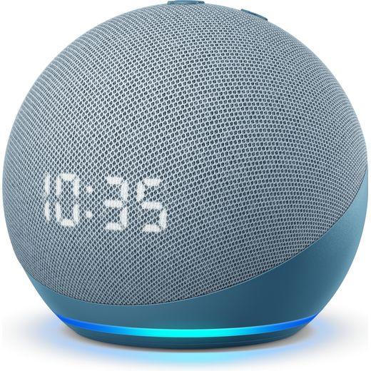 Amazon Echo Dot (4th Gen) with Clock Smart Speaker with Amazon Alexa - Blue