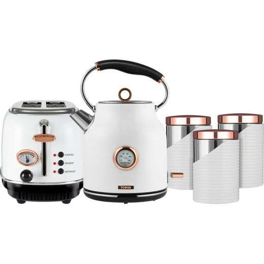 Tower AOBUNDLE008 Kettle And Toaster Set - White / Rose Gold
