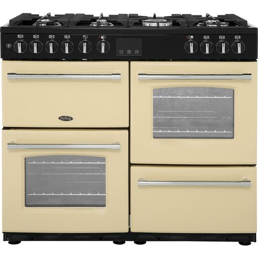 Belling Farmhouse100DF 100cm Dual Fuel Range Cooker - Cream - A/A Rated