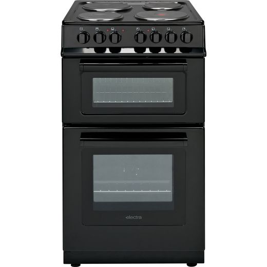 Electra TS50-1B Electric Cooker with Solid Plate Hob - Black - A Rated
