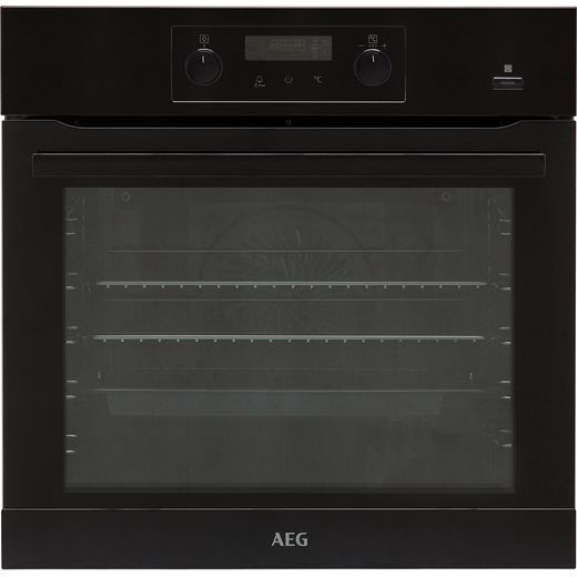 AEG BEB355020B Built In Electric Single Oven with added Steam Function - Black - A+ Rated