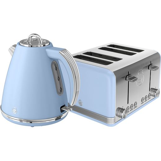Swan Retro STP7041BLN Kettle And Toaster Set - Blue